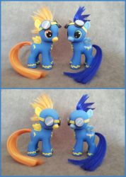 MLP: FiM - Filly Spitfire and colt Soarin -customs by hannaliten