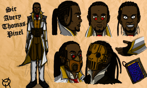 Character Design - Sir Avery Thomas Pinel by Krowjak