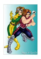 Marvel: Rogue and Gambit by kimberly-castello