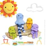 Jellyfish Amigurumi Family - FROGandTOAD Creations by FROG-and-TOAD