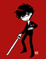P5 protag-kun by Sandy-kun