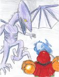 Battle with Ridley by bluerosekatie