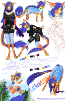 Comm: Xeshaire Sketch Sheet by Galefaux