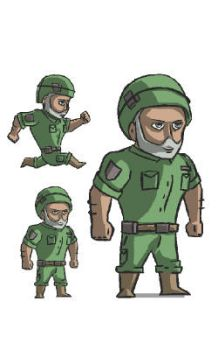 Armyman Sprite by inkfood