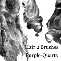 Hair 2 Brushes by Purple-Quartz-Brush