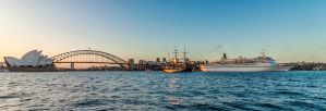 Sunset Cruise - Sydney Harbour by TarJakArt