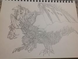 Nergigante from mhw by Arowe01