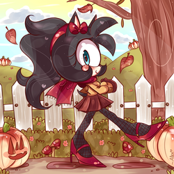 autumn walk by chibiirose