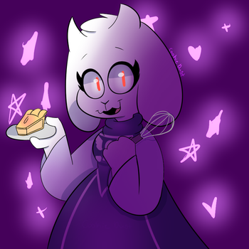 HEY LOOK TORIEL MADE BUTTS PIE FOR ALL OF US! by CookieDust101