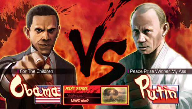Obama vs Putin by Pazero