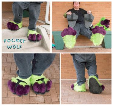 Gazzy Footpaws by PocketWolfCollection