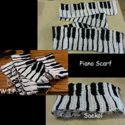 Piano Scarf Commission by Saekoi