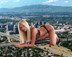 Giantess in the city 18 by lala222221