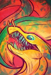 CritterJAM: Fangtooth Moray by squeedgemonster