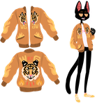 A Cat Named WOLF in a Tiger Jacket by PearlChelle