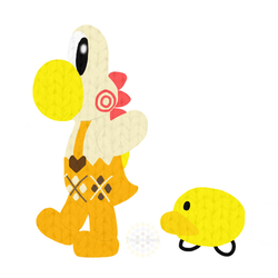 Miss Cluck the Yoshi by Trupokemon