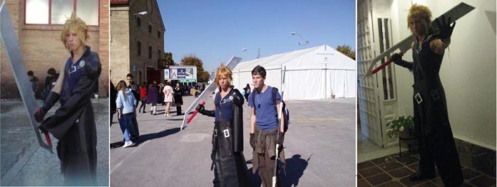 random pics of Cloud's cosplay by OkamiFenrir
