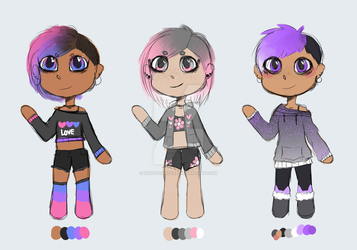 (2/3 OPEN) Pride Adopts by Frostdance89