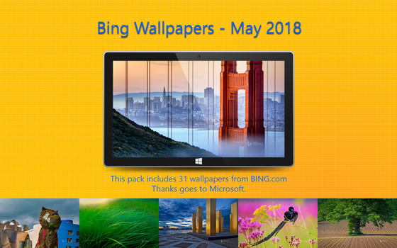 Bing Wallpapers - May 2018 by Misaki2009