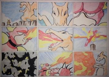 Pokemon - Charizard Vs Magmar by Tinizel