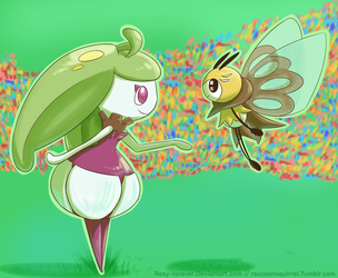 Steenee and Ribombee by Rosy-forever