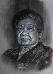 Portrait Of My Mom by straycat27
