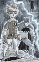 Dark Knight and Carrie Kelley Sketch Cover by calslayton