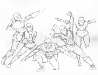 Force Five (Pencils) by kartoonista