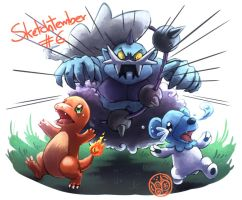 Thundurus, Cubchoo and Charmander.