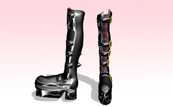 MMD Goth Boots -UPDATED- by amiamy111