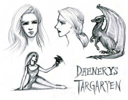 Daenerys Sketches by Zorocan