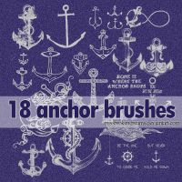 18 anchor brushes. by MissBrokenDreams