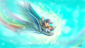 Rainbow Dash and Scootlaloo by Mad--Munchkin