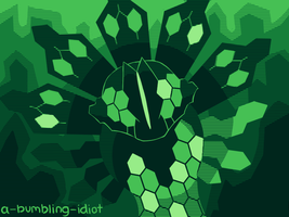 Green Hexagon Worm That'll Never Get His Own Game by A-Bumbling-Idiot