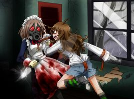 -MikuPapercraft's Contest- Gas Mask Maid VS Nancy by NaughtyKittyDV-1992