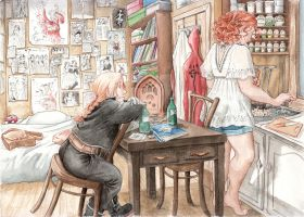 In Roxane's home. -chapter 4 by Atelierdereve