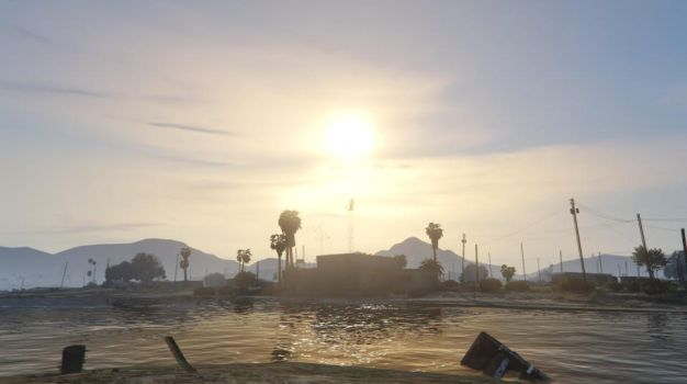GTA Online - Sandy Shores Sunset by MaisyDaydream