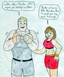 Gym Couple - Helen and Bob Parr by Jose-Ramiro