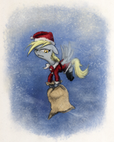 Derpy Holiday Delivery by Hewison