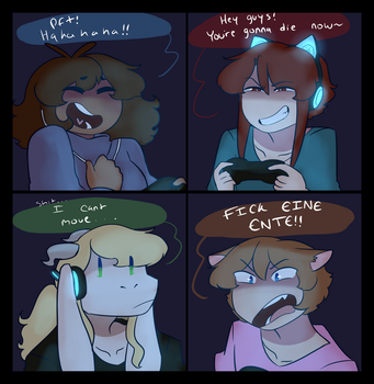 Gaming by Channydraws