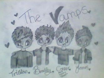 The vamps in black and white by Bubblegumartt