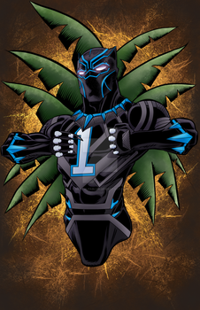 Black Panther Carolina Panther Style by MentalPablum