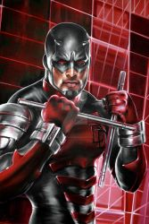 DAREDEVIL ARMORED PORTRAIT by FredIanParis