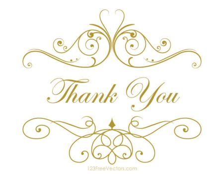 Thank You Clipart Free Vector by 123freevectors
