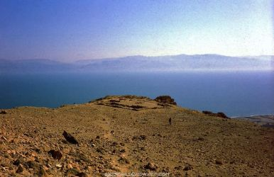 Temple Ruins At Dead Sea by Woscha