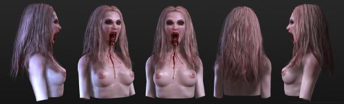 Female Vampire Bust by screenlicker