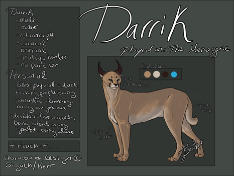 Char Sheet: Darrik by Sigath