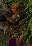 Commission: Chloe and the Snake by hypnovoyer