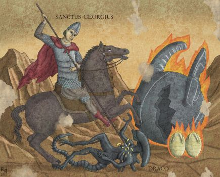 Saint George and the Dragon by Sapiento