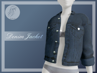 [MMD] Denim Female Jacket (+DL) by AppleWaterSugar